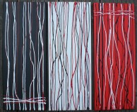 Dreiklang - Acrylbild von Tina Strobel
