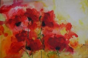 Mohnblumen - Acrylbild Tina Strobel